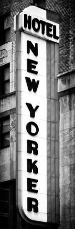Hotel New Yorker, Signboard, Manhattan, New York, Vertical Panoramic View by Philippe Hugonnard
