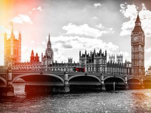 Houses of Parliament and Westminster Bridge - Big Ben - City of London - UK - England by Philippe Hugonnard