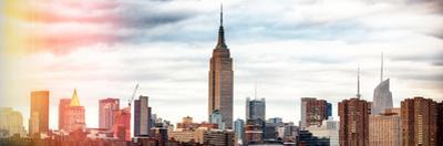 Instants of NY BW Series - Panoramic Landscape View Manhattan with the Empire State Building by Philippe Hugonnard