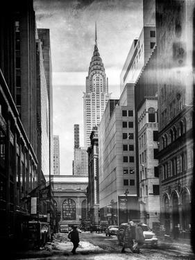 Instants of NY BW Series - Urban Scene in Winter at Grand Central Terminal in New York City by Philippe Hugonnard