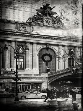 Instants of NY BW Series - Urban Scene View in Winter by Philippe Hugonnard