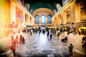 Instants of NY Series - Grand Central Terminal at 42nd Street and Park Avenue in Midtown Manhattan by Philippe Hugonnard