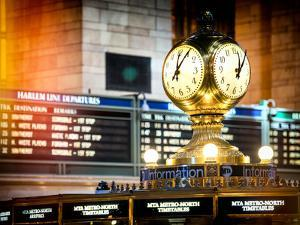 Instants of NY Series - Grand Central Terminal's Four-Sided Seth Thomas Clock - Manhattan by Philippe Hugonnard