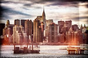 Instants of NY Series - Jetty View with Manhattan and the Chrysler Building by Philippe Hugonnard
