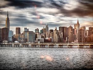 Instants of NY Series - Landscape with the Chrysler Building and Empire State Building Views by Philippe Hugonnard