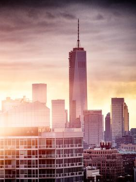 Instants of NY Series - NYC Cityscape with the One World Trade Center (1WTC) at Sunset by Philippe Hugonnard