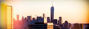 Instants of NY Series - NYC Panoramic Cityscape with the One World Trade Center (1WTC) at Sunset by Philippe Hugonnard