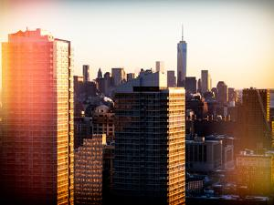 Instants of NY Series - NYC Skyline at Sunset with the One World Trade Center (1WTC) by Philippe Hugonnard