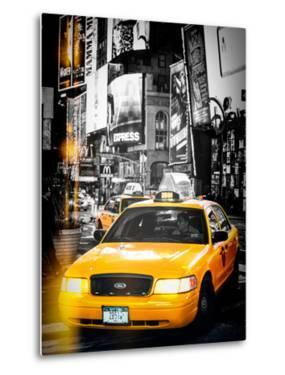 Instants of NY Series - NYC Yellow Taxis / Cabs in Times Square by Night - Manhattan - New York by Philippe Hugonnard