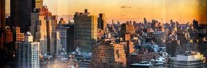 Instants of NY Series - Panoramic Cityscape of Manhattan in Winter at Sunset by Philippe Hugonnard