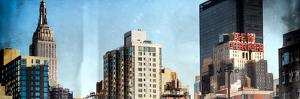 Instants of NY Series - Panoramic Cityscape with Empire State Building and New Yorker Hotel by Philippe Hugonnard