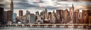 Instants of NY Series - Panoramic Landscape with Chrysler Building and Empire State Building Views by Philippe Hugonnard