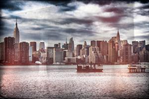 Instants of NY Series - Skyline Manhattan with Empire State Building and Chrysler Building by Philippe Hugonnard