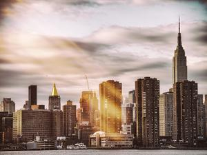 Instants of NY Series - Skyline with Empire State Building at Sunset by Philippe Hugonnard
