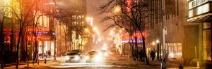 Instants of NY Series - Street Scenes and Urban Night Panoramic Landscape in Winter under the Snow by Philippe Hugonnard