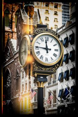 Instants of NY Series - Trump Tower Clock by Philippe Hugonnard