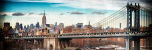 Instants of NY Series - View of Midtown NYC with Manhattan Bridge and Empire State Building by Philippe Hugonnard