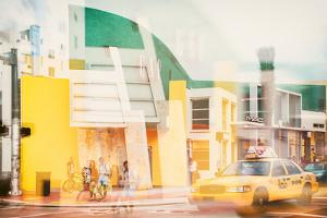 Instants of Series - Art Deco Architecture - Yellow Cab of Miami Beach - Florida - USA by Philippe Hugonnard