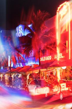 Instants of Series - Colorful Street Life at Night - Ocean Drive - Miami by Philippe Hugonnard