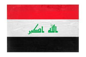 Iraq Flag Design with Wood Patterning - Flags of the World Series by Philippe Hugonnard