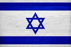 Israel Flag Design with Wood Patterning - Flags of the World Series by Philippe Hugonnard