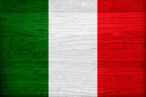 Italy Flag Design with Wood Patterning - Flags of the World Series by Philippe Hugonnard