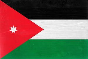 Jordan Flag Design with Wood Patterning - Flags of the World Series by Philippe Hugonnard