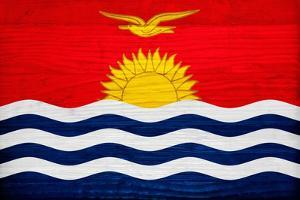 Kiribati Flag Design with Wood Patterning - Flags of the World Series by Philippe Hugonnard