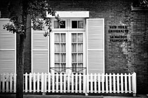 La Maison Française of New York University (Nyu), Greenwich Village, Manhattan, NYC, White Frame by Philippe Hugonnard