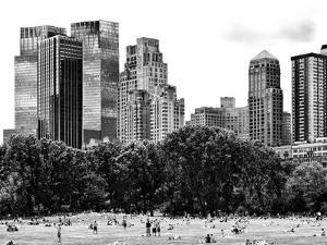 Landscape, a Summer in Central Park, Lifestyle, Manhattan, NYC, Black and White Photography by Philippe Hugonnard