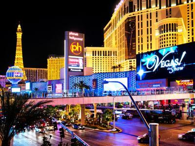 Landscape, Las Vegas by Night, Nevada, United States, USA