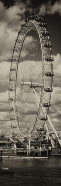 Landscape of London Eye - Millennium Wheel and River Thames - London - England - Door Poster by Philippe Hugonnard