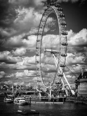 Landscape of London Eye - Millennium Wheel and River Thames - London - England - United Kingdom by Philippe Hugonnard