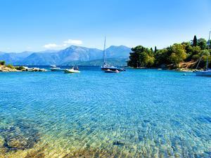 Landscape, Saint Florent Creek, Mediterranean, Corsica, France by Philippe Hugonnard