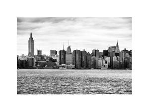 Landscape View Manhattan with the Empire State Building and Chrysler Building - New York by Philippe Hugonnard