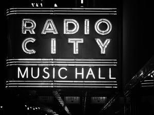 Lanes Entrance to the Radio City Music Hall by Night, Manhattan, Times Square, New York, Classic by Philippe Hugonnard