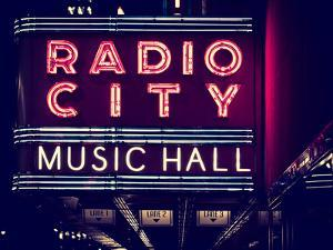 Lanes Entrance to the Radio City Music Hall by Night, Manhattan, Times Square, New York by Philippe Hugonnard