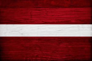 Latvia Flag Design with Wood Patterning - Flags of the World Series by Philippe Hugonnard