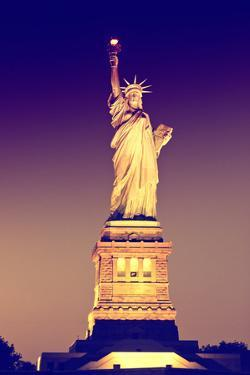 Liberty Island by Night - Statue of Liberty - Manhattan - New York City - United States by Philippe Hugonnard