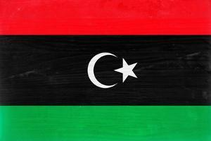 Libya Flag Design with Wood Patterning - Flags of the World Series by Philippe Hugonnard