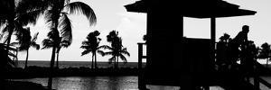 Life Guard Station at Sunset - Miami - Florida by Philippe Hugonnard