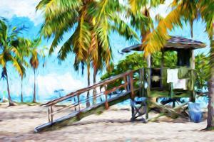 Life Guard Station III - In the Style of Oil Painting by Philippe Hugonnard