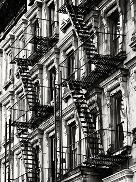 Lifestyle Instant, Fire Staircase, Sepia, Manhattan, New York City, United States by Philippe Hugonnard