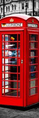 London Calling - Phone Booths - UK Red Phone - London - England - United Kingdom - Door Poster by Philippe Hugonnard