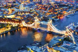 London Cityscape III - In the Style of Oil Painting by Philippe Hugonnard