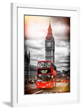 London Red Bus and Big Ben - City of London - UK - England - United Kingdom - Europe by Philippe Hugonnard