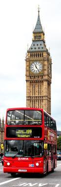 London Red Bus and Big Ben - London - UK - England - United Kingdom - Door Poster by Philippe Hugonnard