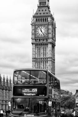 London Red Bus and Big Ben - London - UK - England - United Kingdom - Europe by Philippe Hugonnard