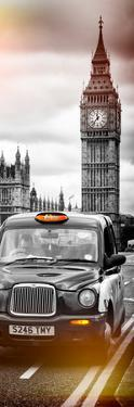London Taxi and Big Ben - London - UK - England - United Kingdom - Europe - Door Poster by Philippe Hugonnard