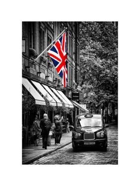 London Taxi and English Flag - London - UK - England - United Kingdom - Europe by Philippe Hugonnard